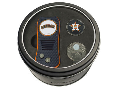 Houston Astros Team Golf Tin Gift Set w/ Divot Tool, Cap Clip, Ball Marker