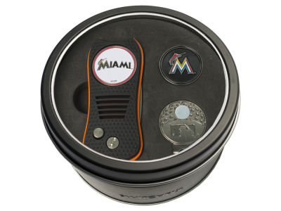 Miami Marlins Team Golf Tin Gift Set w/ Divot Tool, Cap Clip, Ball Marker
