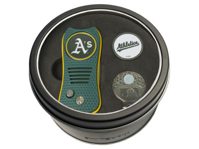 Oakland Athletics Team Golf Tin Gift Set w/ Divot Tool, Cap Clip, Ball Marker