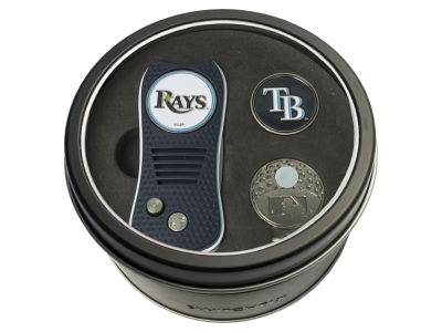 Tampa Bay Rays Team Golf Tin Gift Set w/ Divot Tool, Cap Clip, Ball Marker