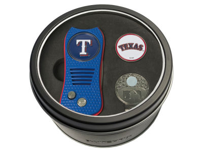 Texas Rangers Team Golf Tin Gift Set w/ Divot Tool, Cap Clip, Ball Marker
