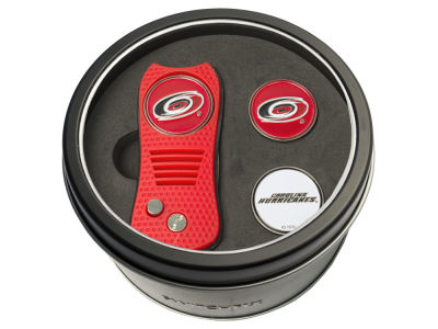 Carolina Hurricanes Team Golf Tin Gift Set Switchfix Divot Tool 2 Ball Markers