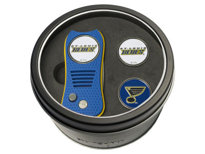 St. Louis Blues Team Golf Tin Gift Set Switchfix Divot Tool 2 Ball Markers