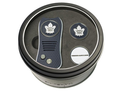 Toronto Maple Leafs Team Golf Tin Gift Set Switchfix Divot Tool 2 Ball Markers