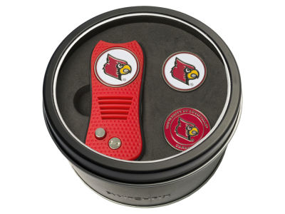 Louisville Cardinals Team Golf Tin Gift Set Switchfix Divot Tool 2 Ball Markers
