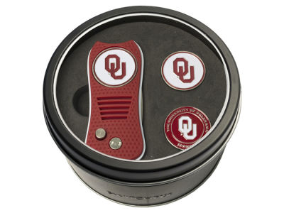 Oklahoma Sooners Team Golf Tin Gift Set Switchfix Divot Tool 2 Ball Markers