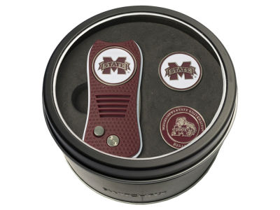Mississippi State Bulldogs Team Golf Tin Gift Set Switchfix Divot Tool 2 Ball Markers