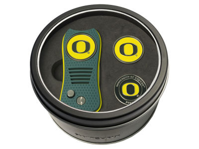 Oregon Ducks Team Golf Tin Gift Set Switchfix Divot Tool 2 Ball Markers