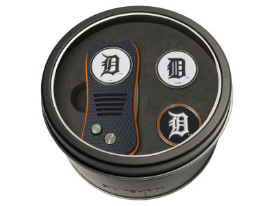 Detroit Tigers Team Golf Tin Gift Set Switchfix Divot Tool 2 Ball Markers