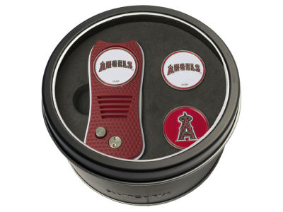 Los Angeles Angels Team Golf Tin Gift Set Switchfix Divot Tool 2 Ball Markers