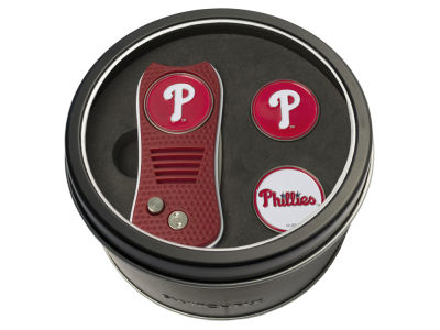 Philadelphia Phillies Team Golf Tin Gift Set Switchfix Divot Tool 2 Ball Markers