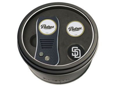 San Diego Padres Team Golf Tin Gift Set Switchfix Divot Tool 2 Ball Markers