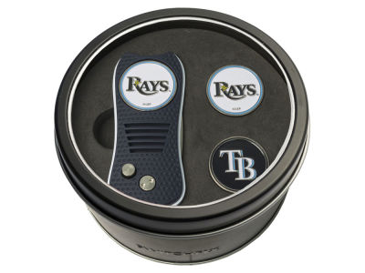 Tampa Bay Rays Team Golf Tin Gift Set Switchfix Divot Tool 2 Ball Markers