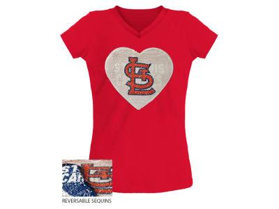 St. Louis Cardinals 5th   Ocean MLB Youth Girls Flip Sequin T-Shirt d51d4c1c4