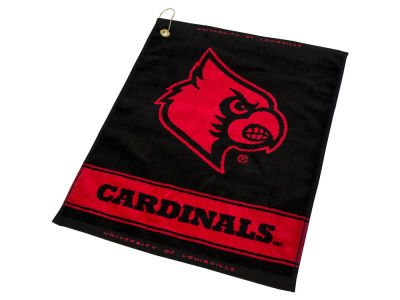 Louisville Cardinals Team Golf Jacquard Woven Golf Towel