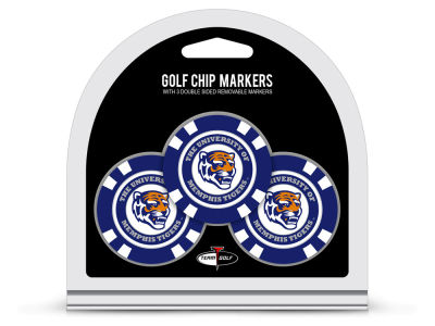 Memphis Tigers Team Golf 3 Pack Golf Chip Ball Markers