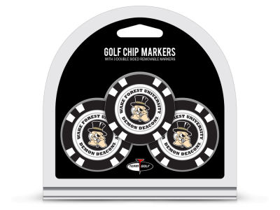 Wake Forest Demon Deacons Team Golf 3 Pack Golf Chip Ball Markers
