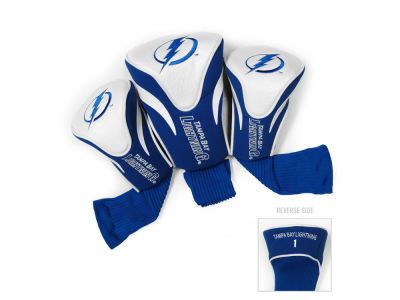 Tampa Bay Lightning Team Golf 3 Pack Contour Head Covers