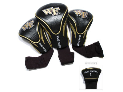 Wake Forest Demon Deacons Team Golf 3 Pack Contour Head Covers