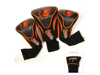 Baltimore Orioles 3 Pack Contour Head Covers