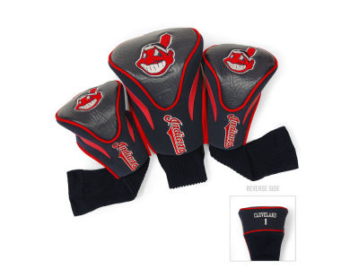 Cleveland Indians Team Golf 3 Pack Contour Head Covers