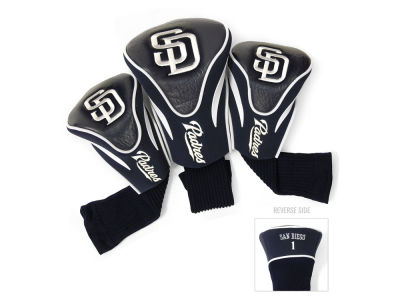 San Diego Padres Team Golf 3 Pack Contour Head Covers