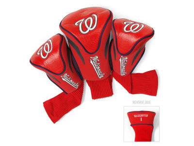 Washington Nationals Team Golf 3 Pack Contour Head Covers