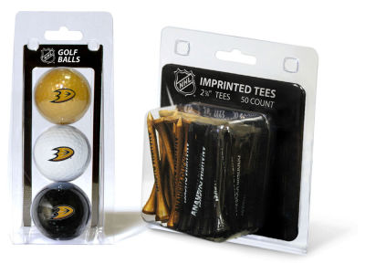 Anaheim Ducks Team Golf 3 Golf Balls And 50 Golf Tees Set
