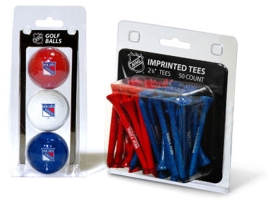 New York Rangers Team Golf 3 Golf Balls And 50 Golf Tees Set