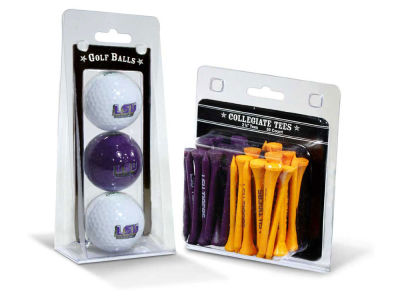 LSU Tigers Team Golf 3 Golf Balls And 50 Golf Tees Set