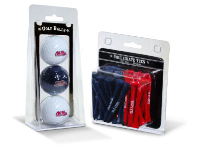 Ole Miss Rebels Team Golf 3 Golf Balls And 50 Golf Tees Set