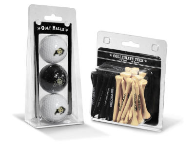 Colorado Buffaloes Team Golf 3 Golf Balls And 50 Golf Tees Set