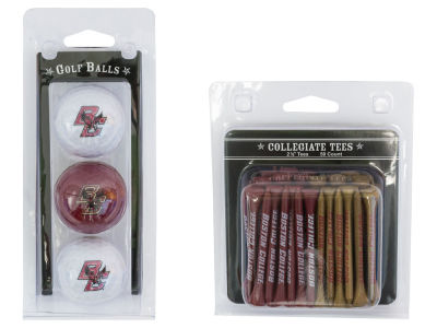 Boston College Eagles Team Golf 3 Golf Balls And 50 Golf Tees Set
