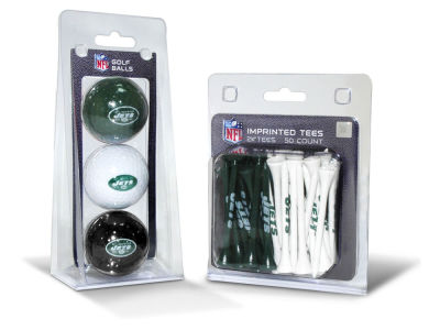 New York Jets Team Golf 3 Golf Balls And 50 Golf Tees Set