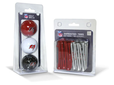 Tampa Bay Buccaneers Team Golf 3 Golf Balls And 50 Golf Tees Set
