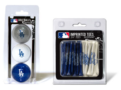 Los Angeles Dodgers Team Golf 3 Golf Balls And 50 Golf Tees Set