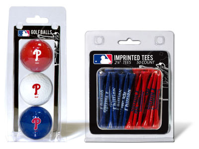 Philadelphia Phillies Team Golf 3 Golf Balls And 50 Golf Tees Set