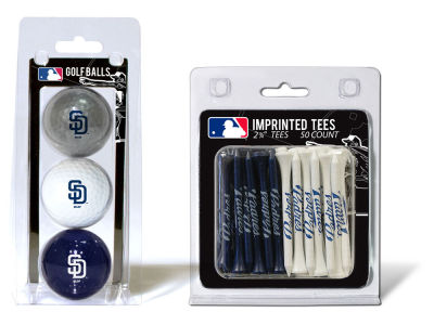 San Diego Padres Team Golf 3 Golf Balls And 50 Golf Tees Set