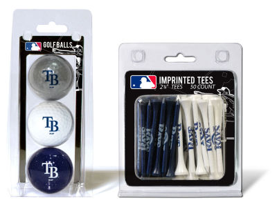 Tampa Bay Rays Team Golf 3 Golf Balls And 50 Golf Tees Set