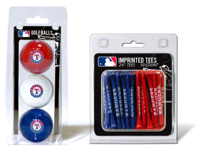 Texas Rangers Team Golf 3 Golf Balls And 50 Golf Tees Set