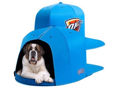 Oklahoma City Thunder Nap Cap NBA Nap Cap Pet Bed - Large