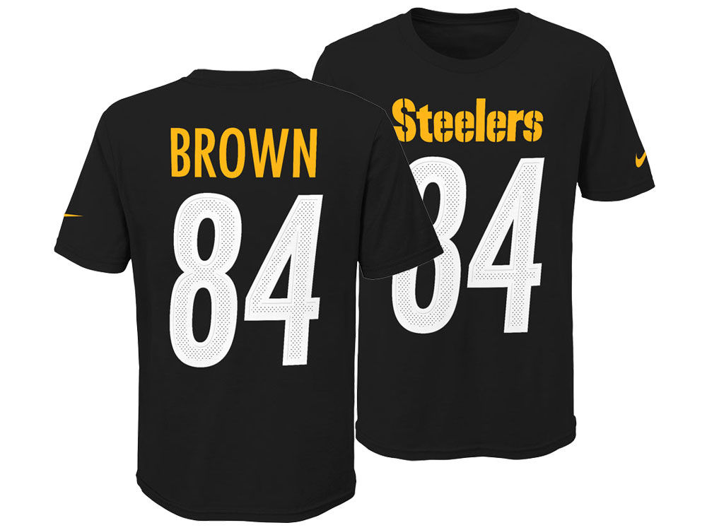 Pittsburgh Steelers Antonio Brown Nike NFL Youth Pride Name and Number 3.0 T -Shirt  9afd39410