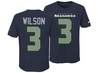 Seattle Seahawks Russell Wilson Nike NFL Youth Pride Name and Number 3.0 T-Shirt