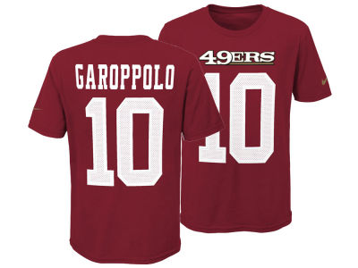 San Francisco 49ers Jimmy Garoppolo Nike NFL Youth Pride Name and Number 3.0 T-Shirt