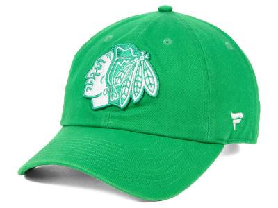 Chicago Blackhawks NHL Branded 2019 NHL St. Patrick s Day Fundamental Adjustable  Cap 2e77bacf7