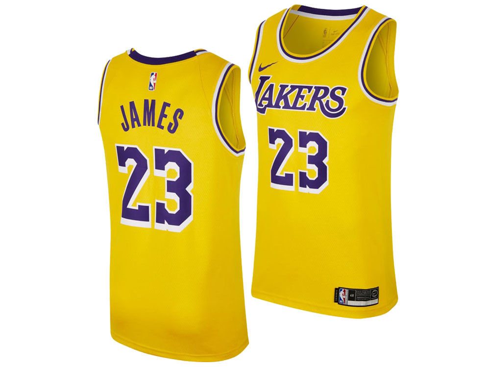 quality design 9f506 c3555 Los Angeles Lakers LeBron James Nike NBA Men's Icon Swingman Jersey