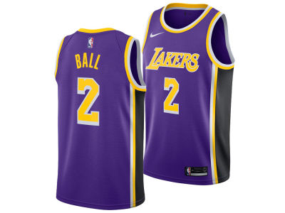 Los Angeles Lakers Lonzo Ball Nike NBA Men's Statement Swingman Jersey