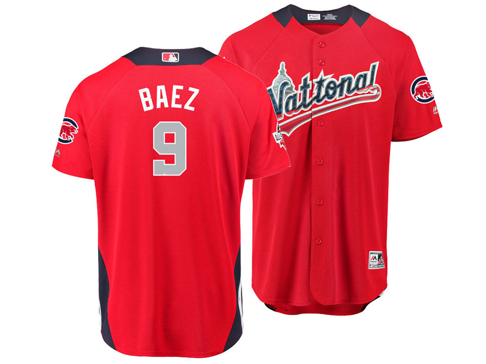 1c54a4d34 Chicago Cubs Javier Baez Majestic 2018 MLB Men s All Star Game Home Run  Derby Jersey