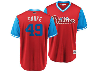Philadelphia Phillies Jake Arrieta MLB Men's Player's Weekend Replica Cool Base Jersey
