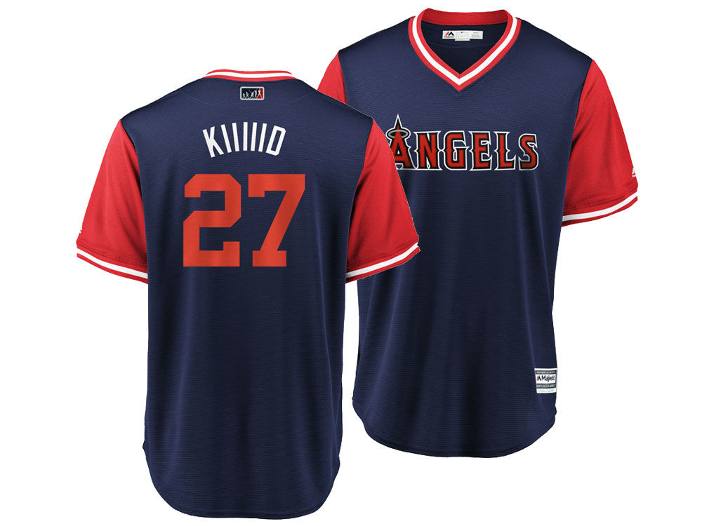 0e96a7197a9 Los Angeles Angels Mike Trout MLB Men s Player s Weekend Replica Cool Base  Jersey